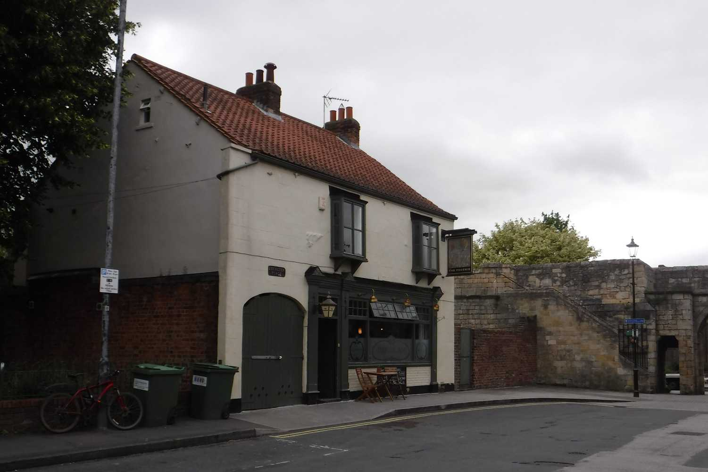 The Phoenix Pub beside the city walls of York near Fishergate