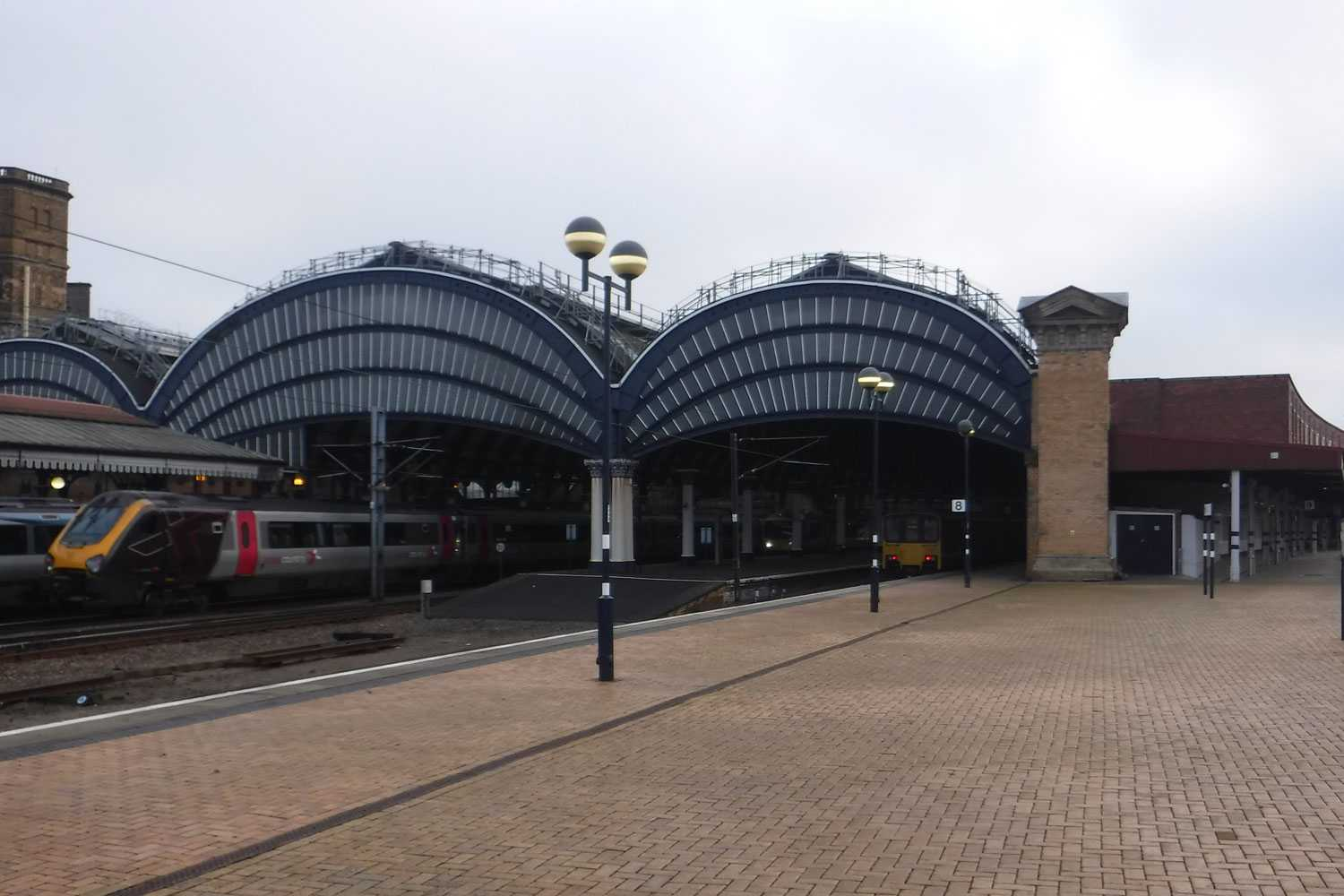 North Exit of York Railway Station from platform 8