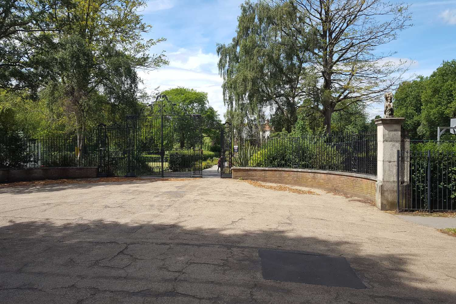 Entrance gates to Rowntree Park in York