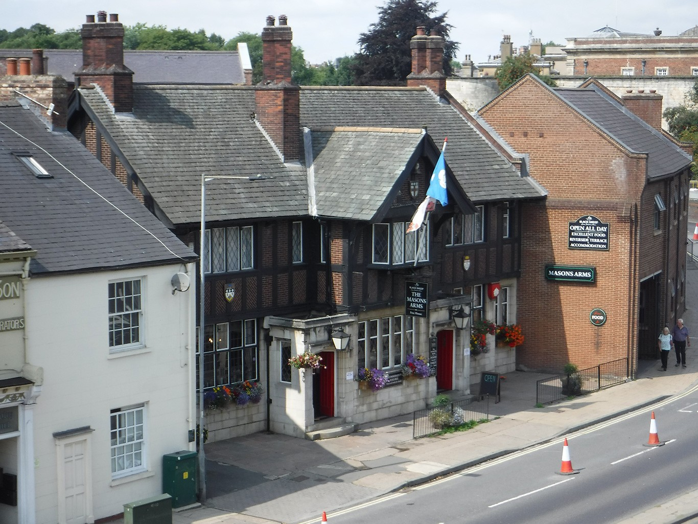 Mason's Arms in York from the Walls